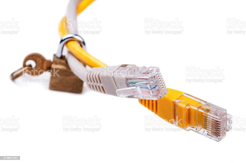 Control over network & IT security stock photo