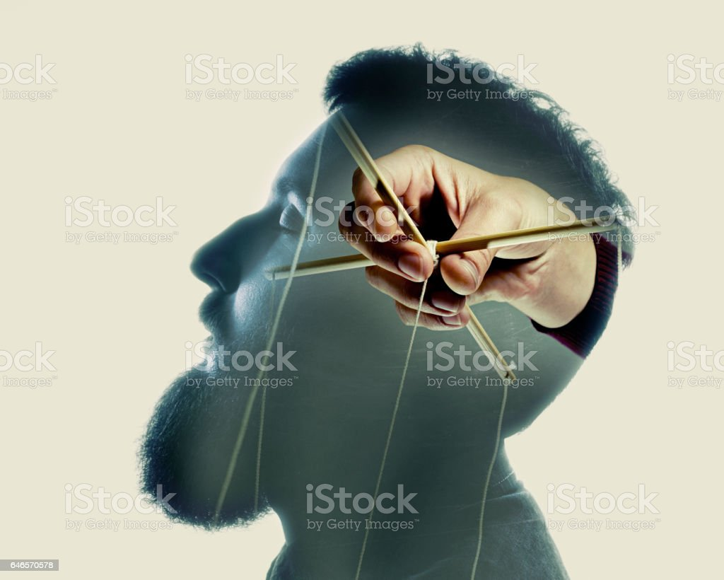 control over the brain stock photo