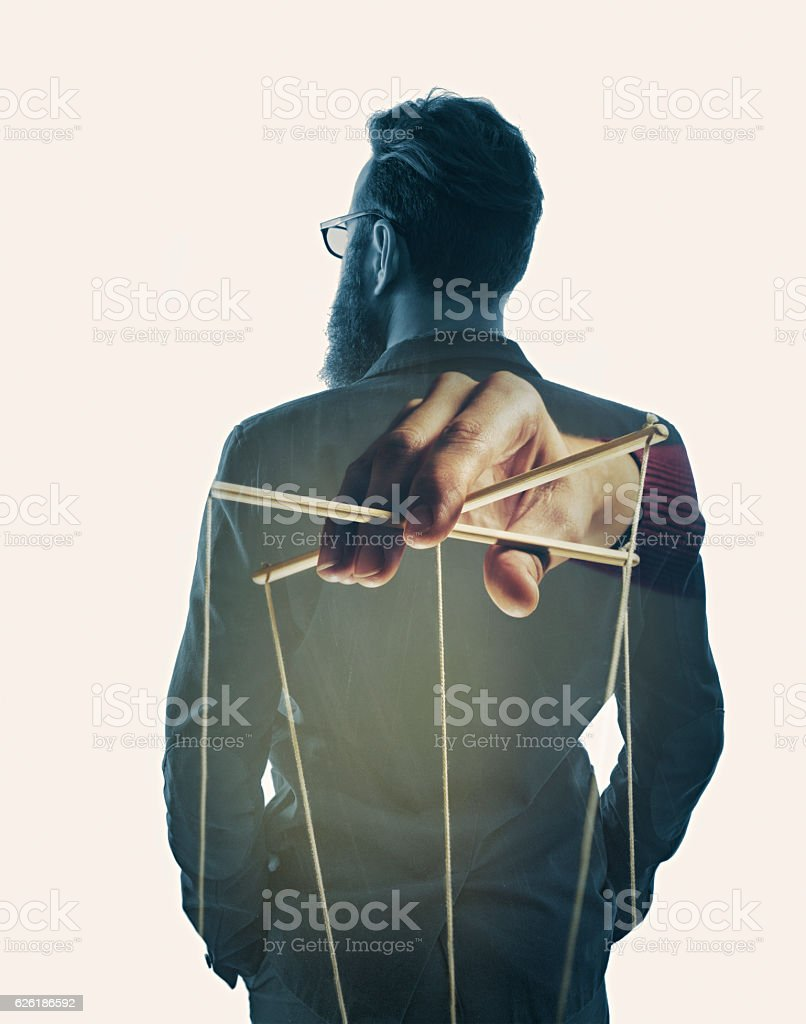 control over the businessman stock photo