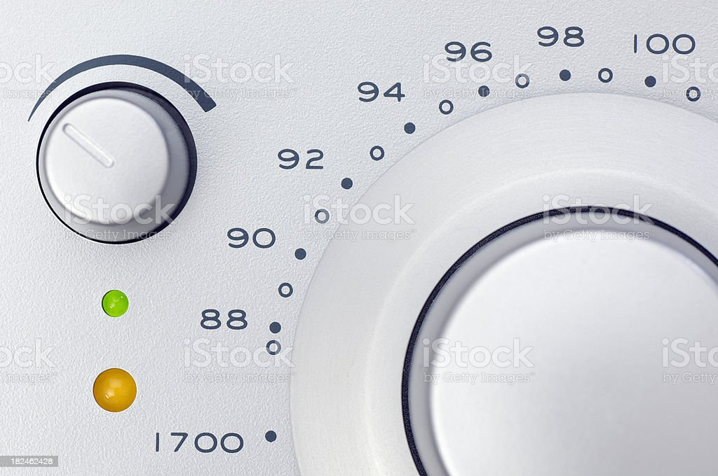Control panal of a radio royalty-free stock photo