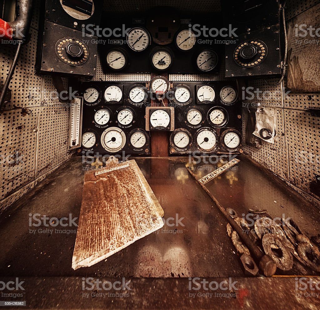 Control Panel Filth stock photo