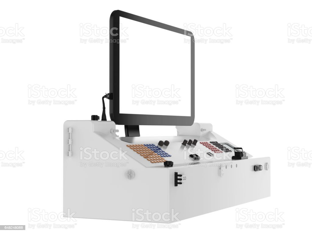 control panel isolated stock photo