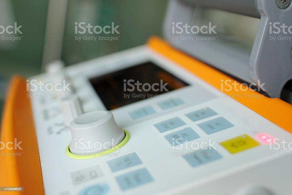 Control panel of device stock photo