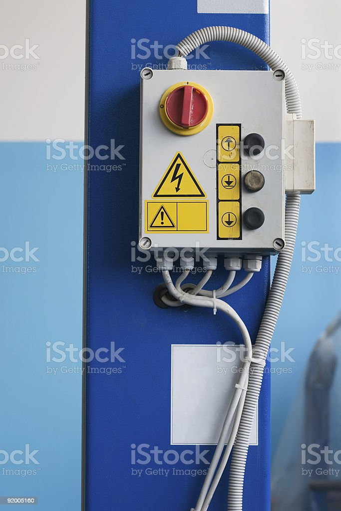 Control panel of the lift royalty-free stock photo