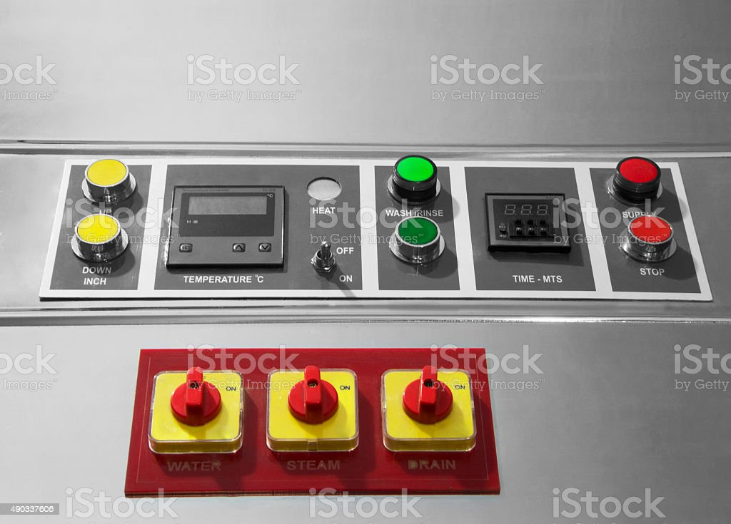 Control Panel of washing machine stock photo