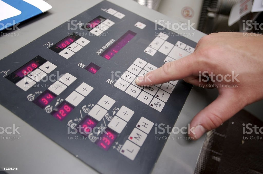 PQC Control Panel... royalty-free stock photo