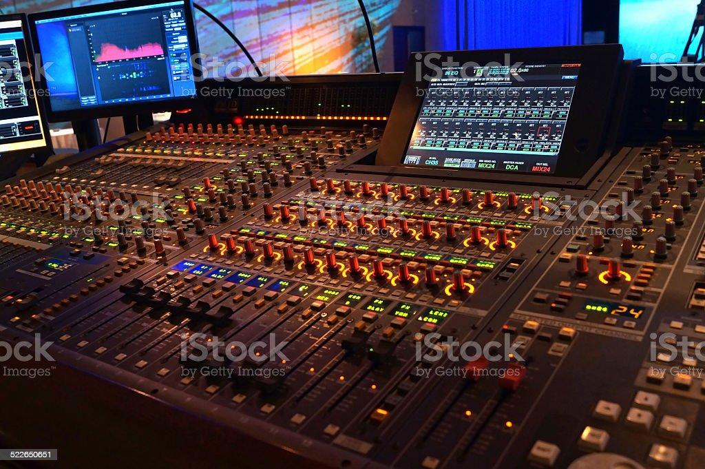 Control Panel Room stock photo