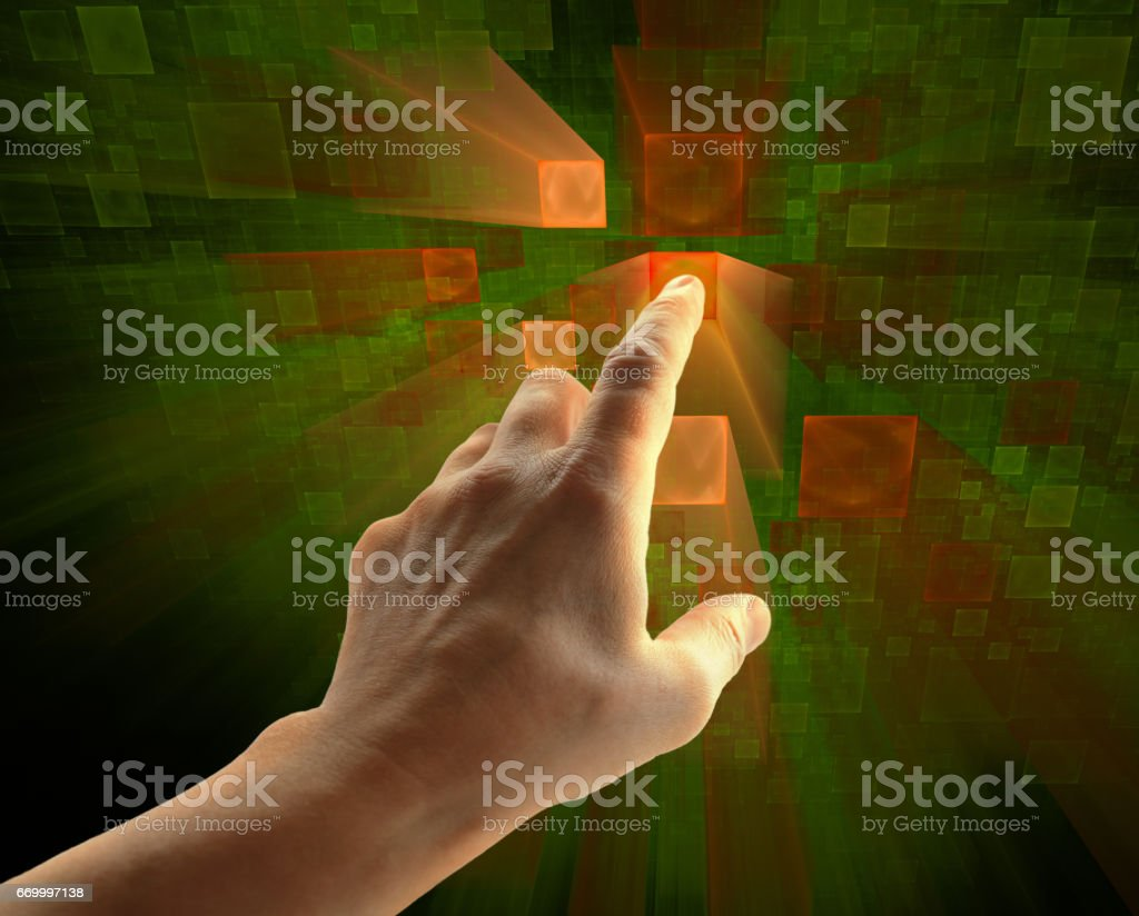 Control panel, tech abstract background stock photo