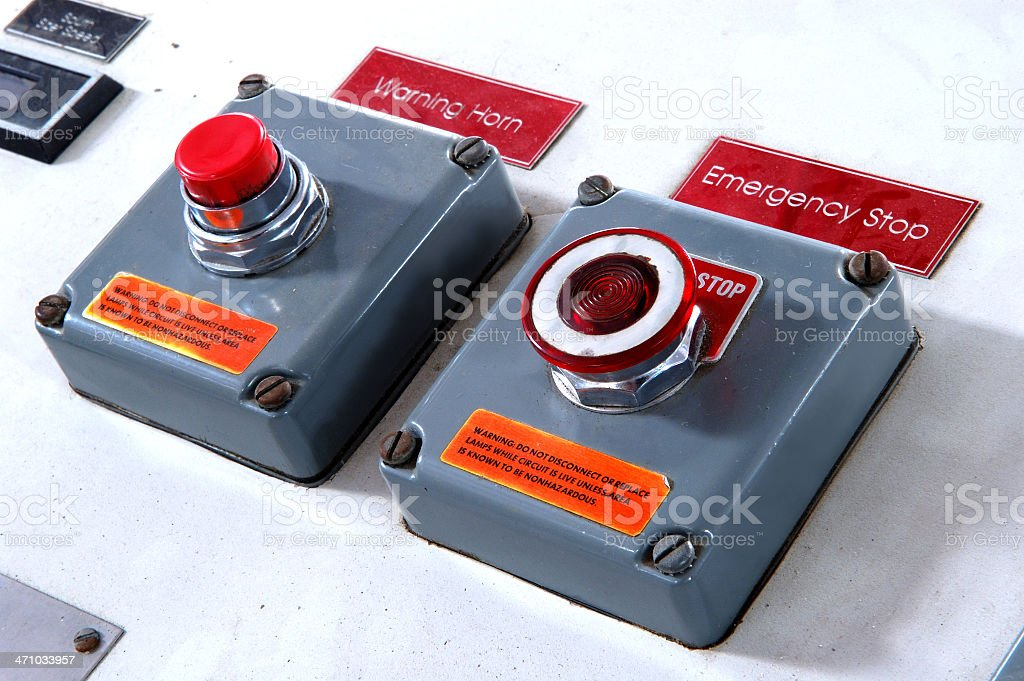 Control Panel Warning Buttons royalty-free stock photo