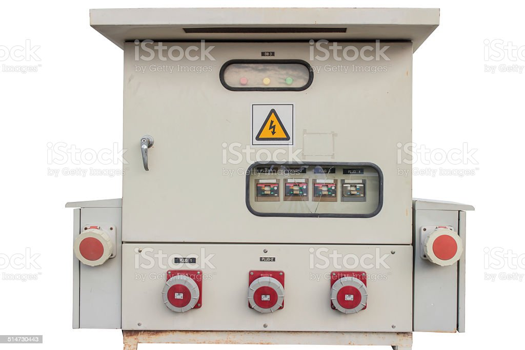 Control panels in an electronics labOblique stock photo