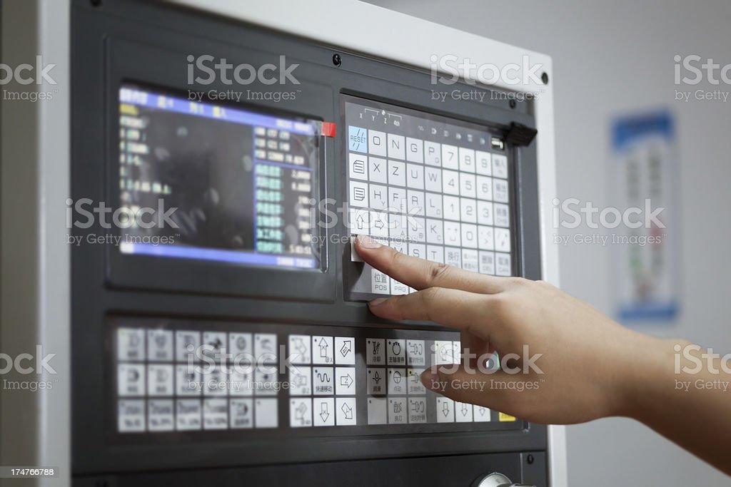 CNC Control royalty-free stock photo