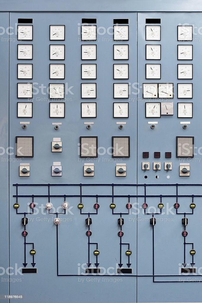 Control room board royalty-free stock photo