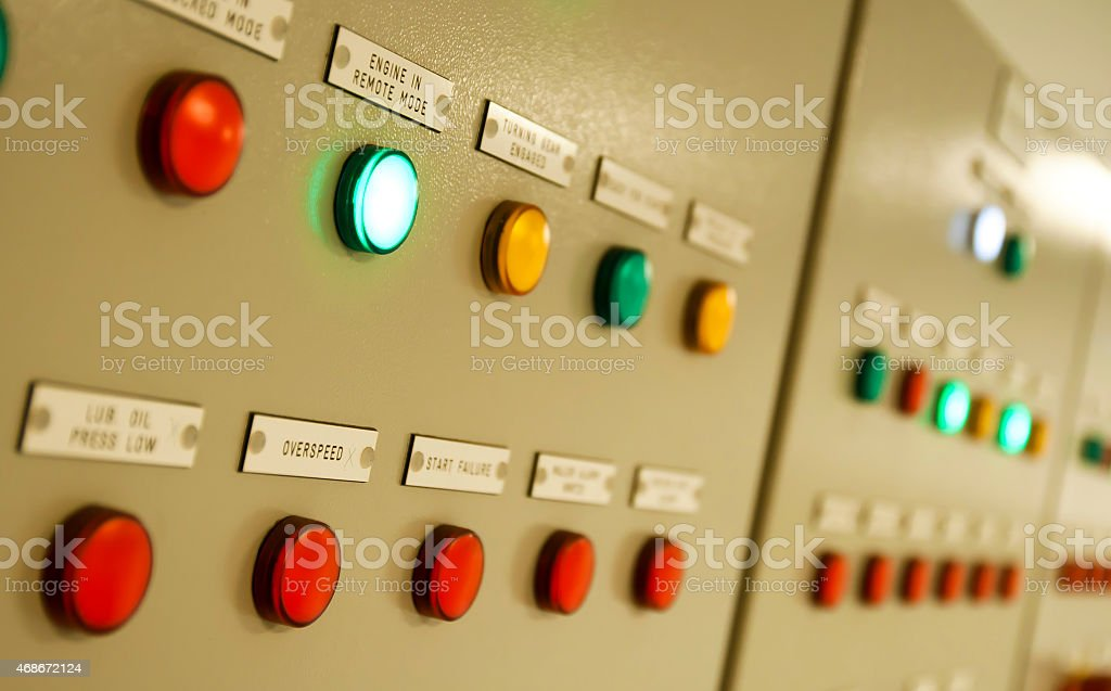 Control Room of an extra large ship stock photo