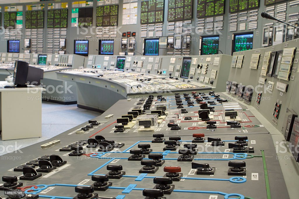 Control room stock photo