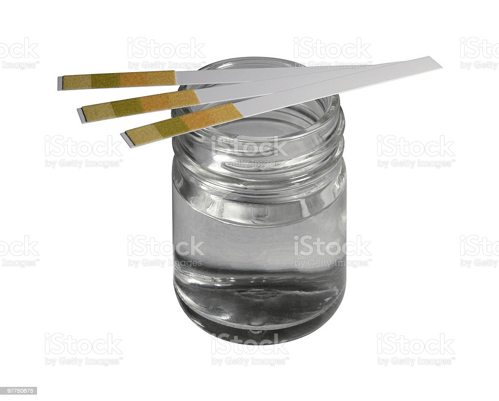 control stripes on glass bottle stock photo