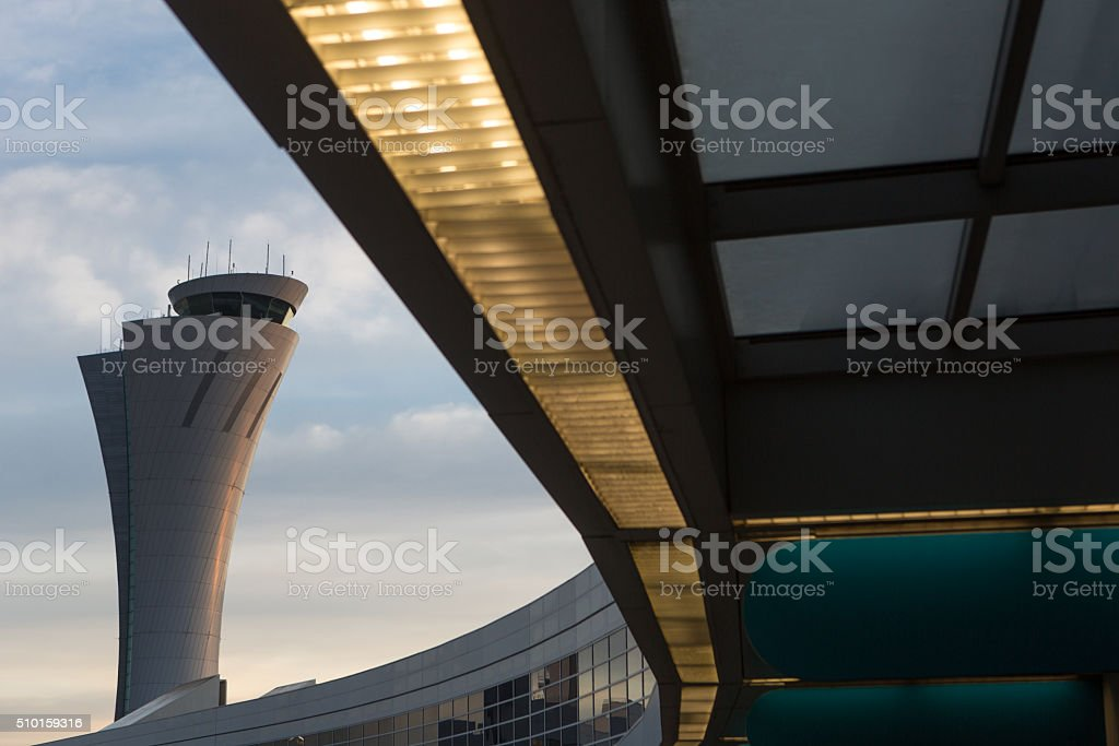 SFO Control Tower stock photo