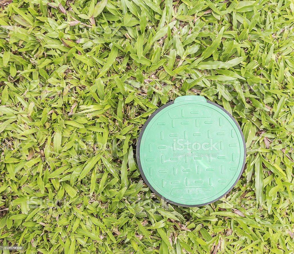 control valve lid stock photo