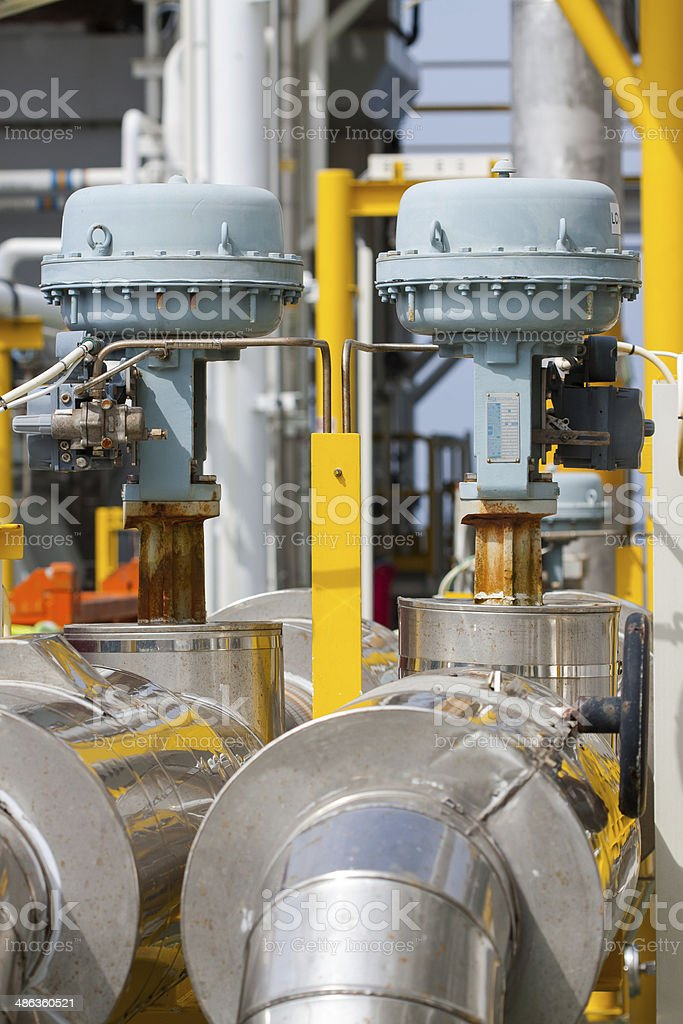 Control valve or pressure regulator stock photo