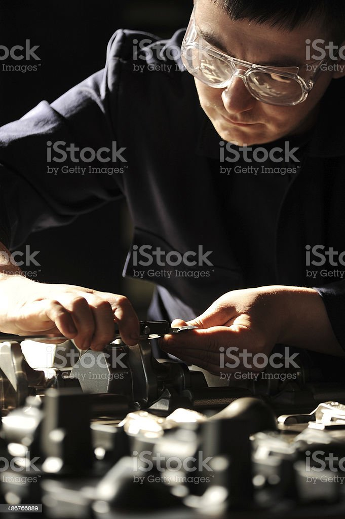 Control worker stock photo