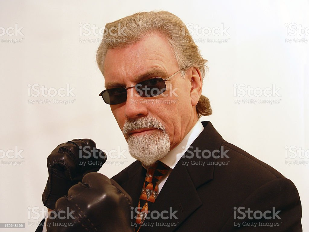 Controlled anger; ready to go royalty-free stock photo