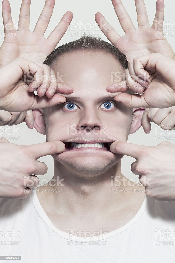 Controlled by Hands royalty-free stock photo