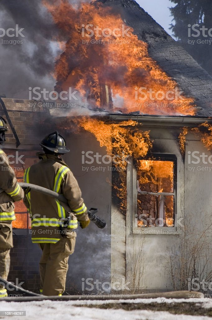 Controlled fire photo royalty-free stock photo