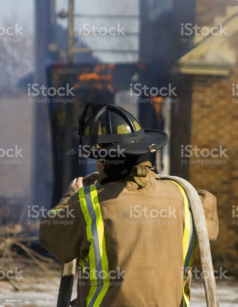 Controlled fire royalty-free stock photo