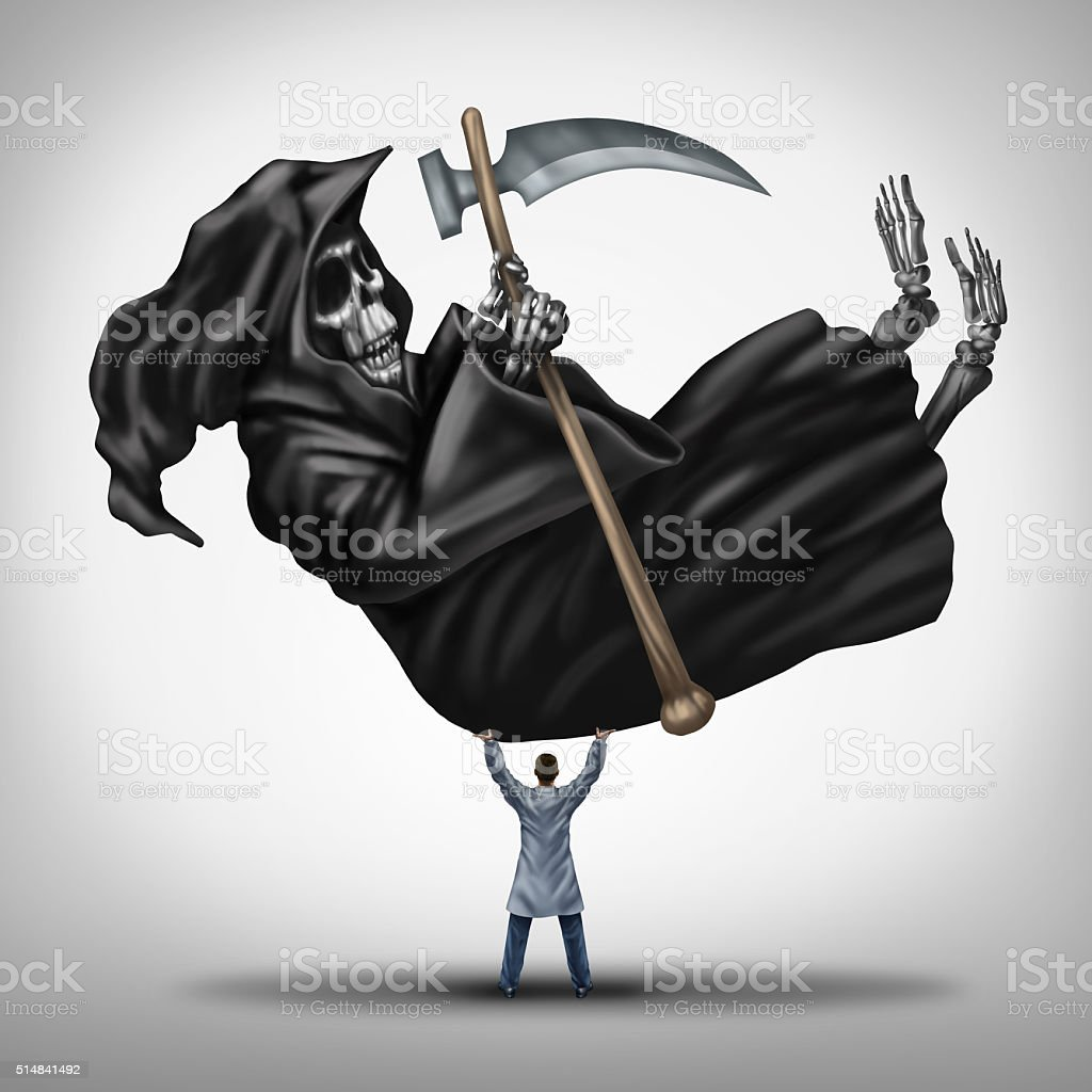 Controlling Death stock photo