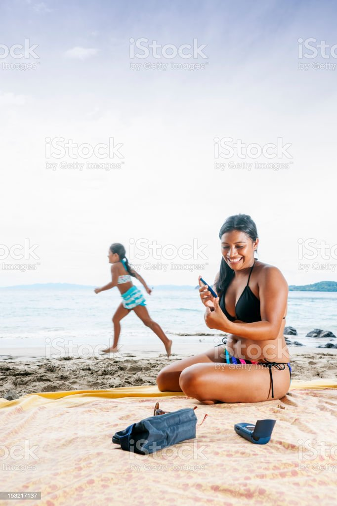 Controlling diabetes on vacation royalty-free stock photo