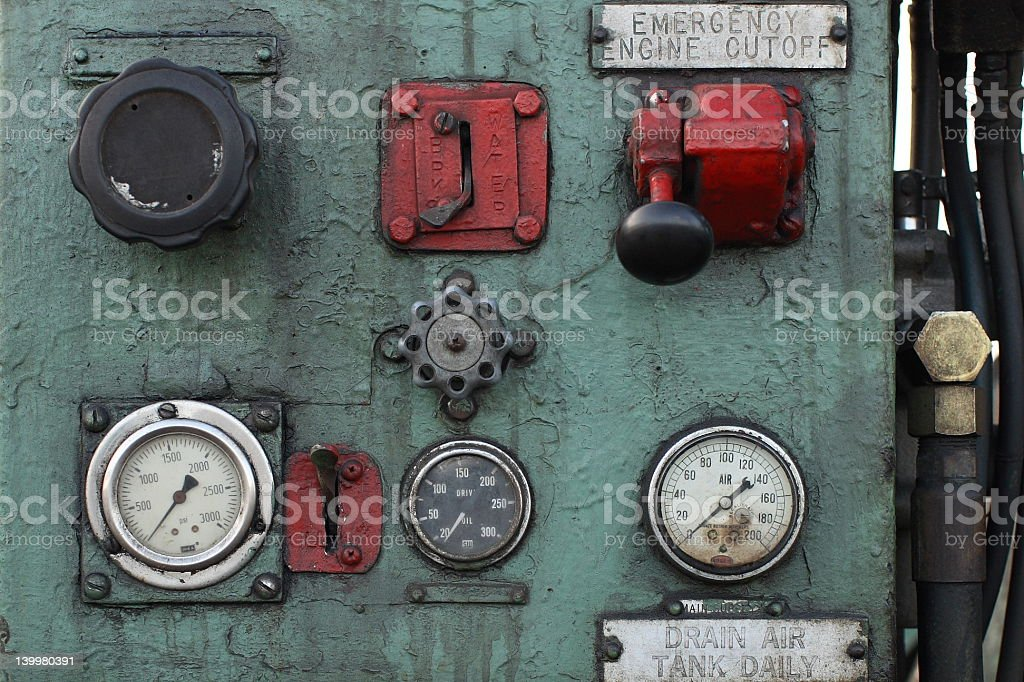 Controls and Gauges royalty-free stock photo