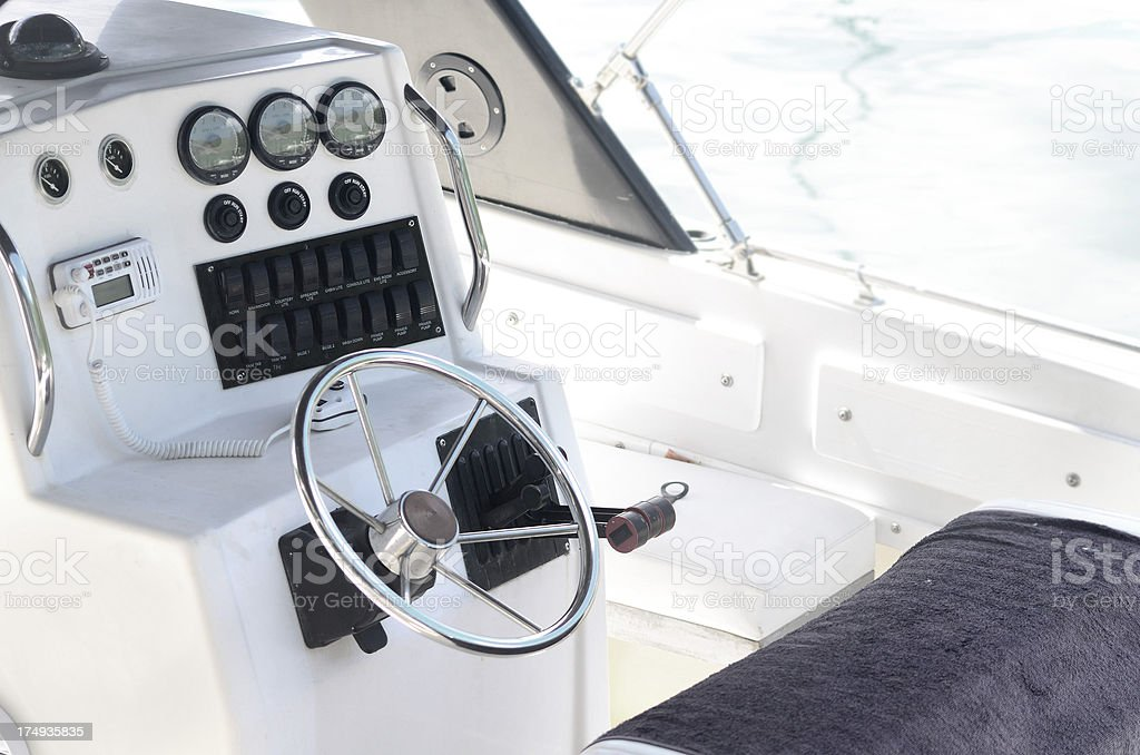 controls on boat royalty-free stock photo