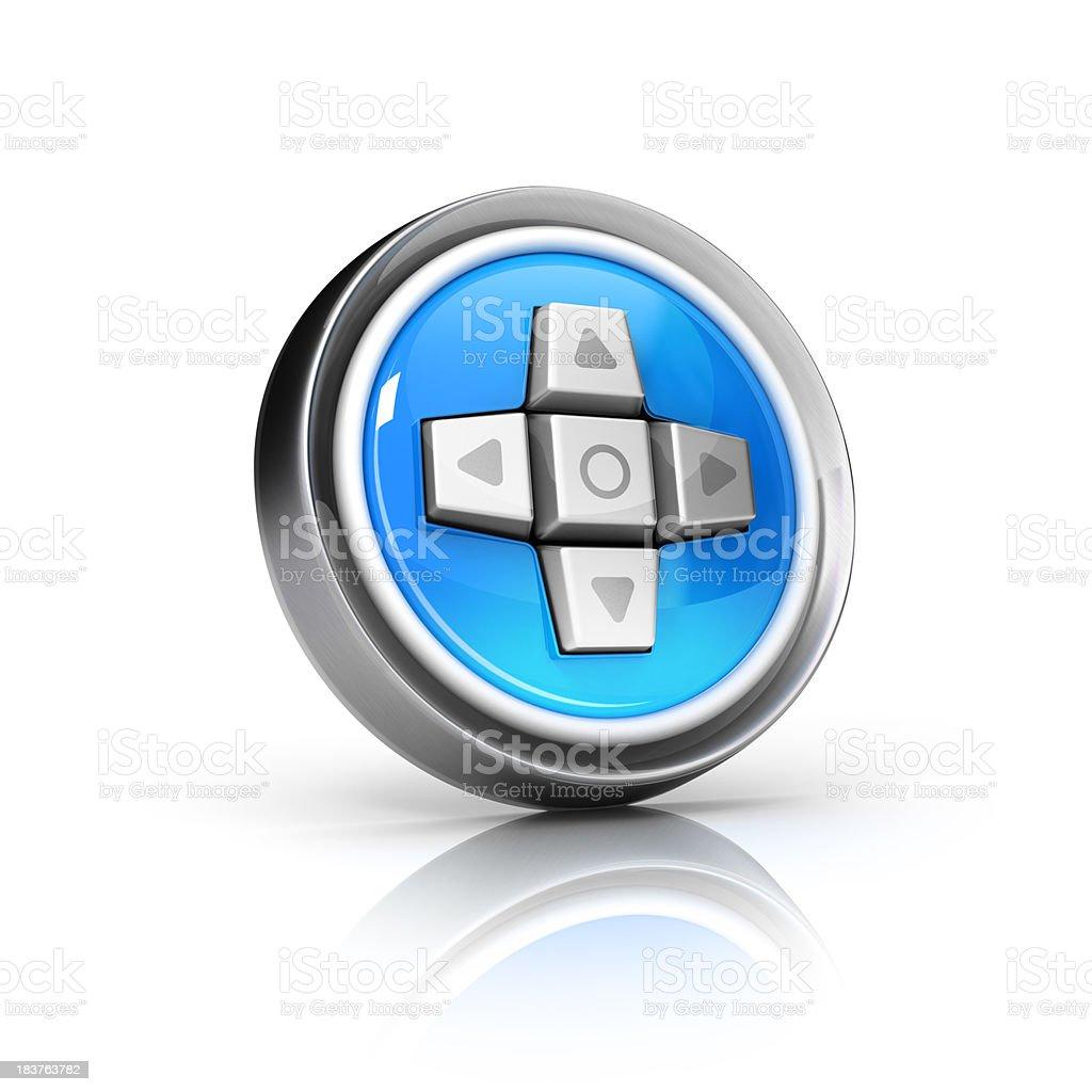 Controls or joystick icon royalty-free stock photo
