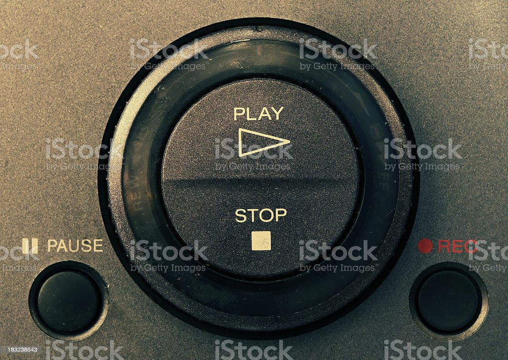VCR controls royalty-free stock photo