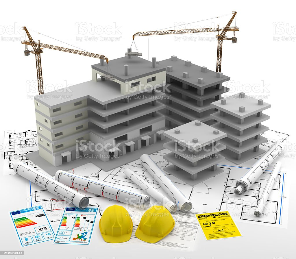 Contrucci?n de un Edificio. Real Estate. Reparaciones y Reformas stock photo