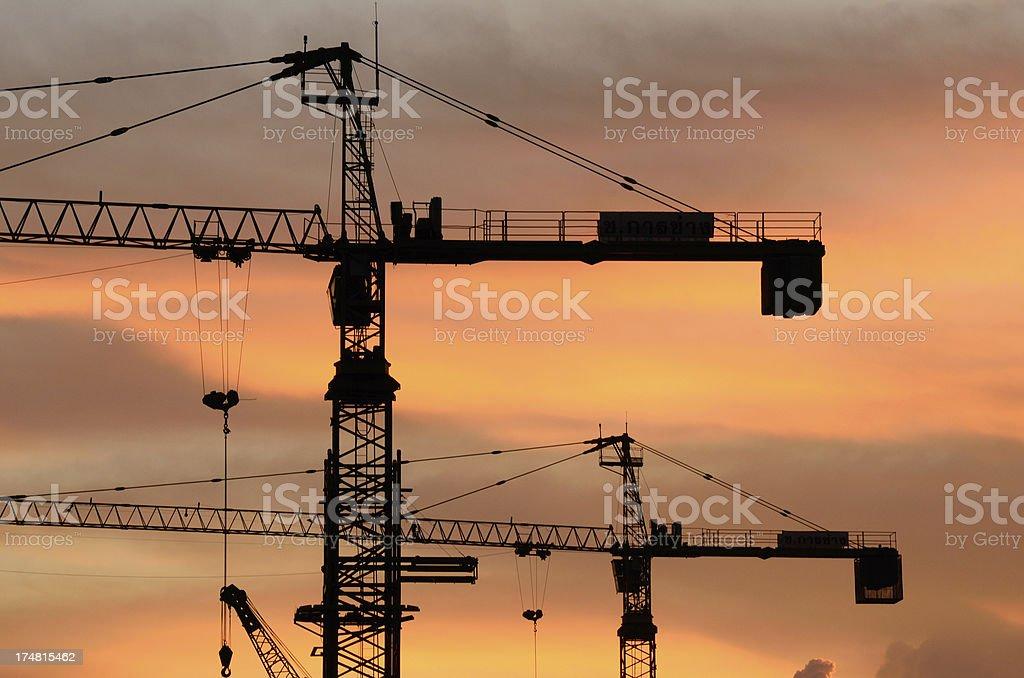 contruction crane royalty-free stock photo