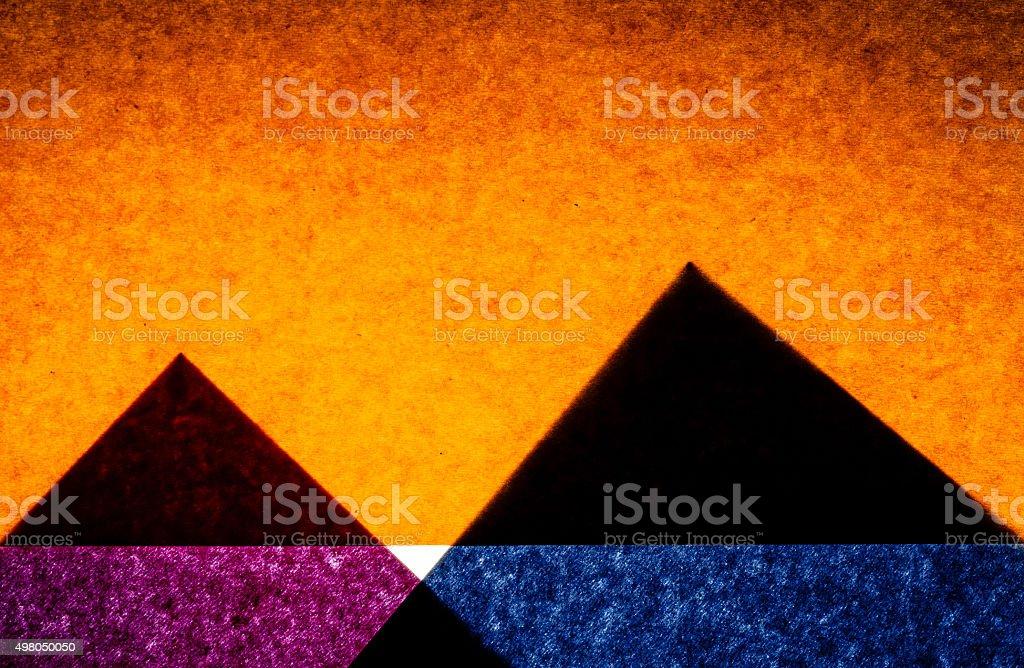 Contruction Paper Pyramids stock photo