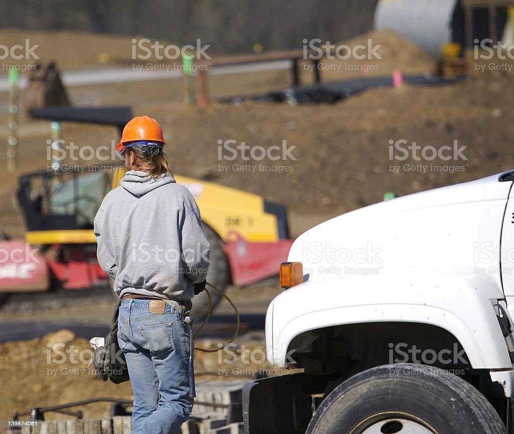 Contruction Worker royalty-free stock photo