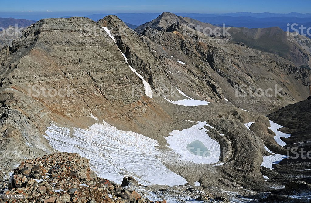 Conundrum Peak, Rocky Mountains Colorado stock photo