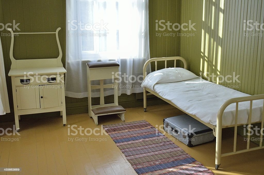 convent girl's bedroom royalty-free stock photo