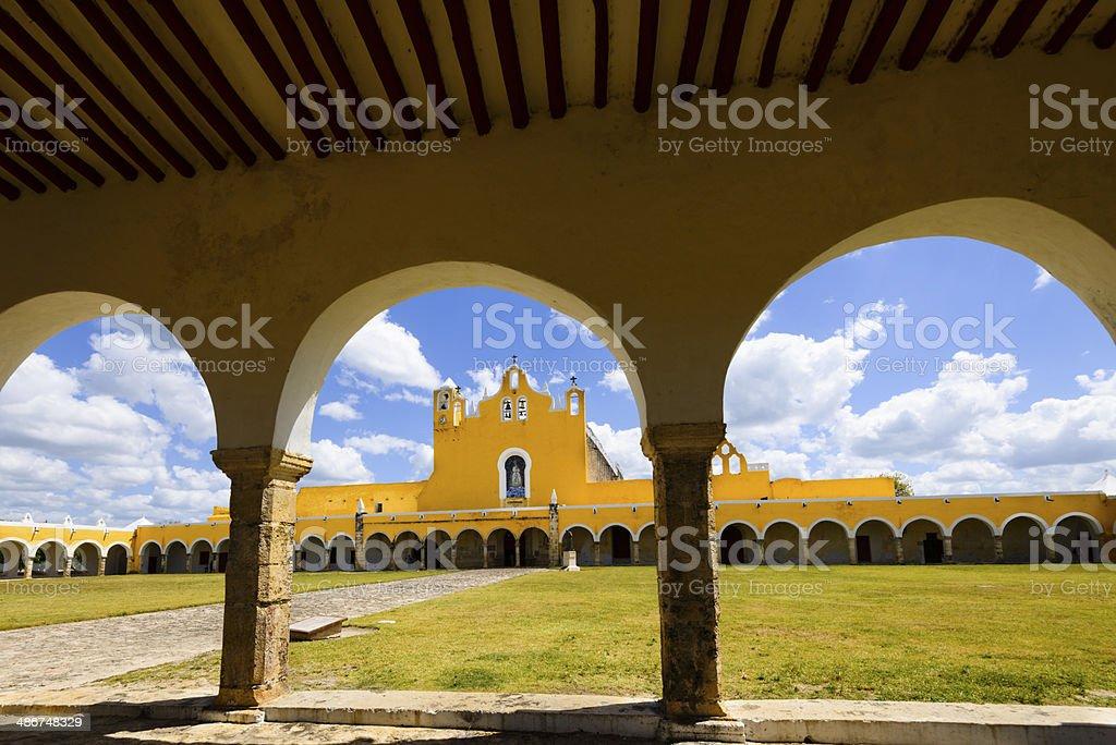 Convent in the city of Izamal, Mexico -XXXL royalty-free stock photo