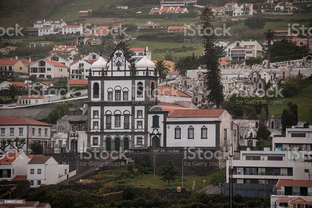Convent of Carmo, Horta, Azores stock photo