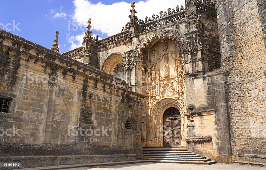 Convent of Christ in Tomar, Portugal stock photo