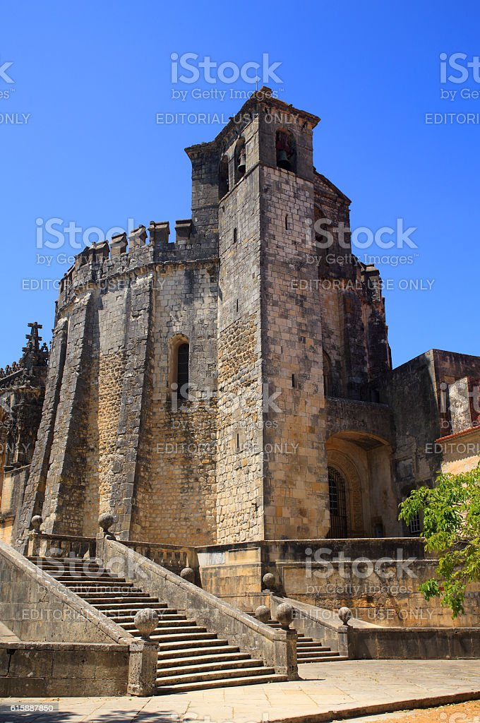 Convent of Christ in Tomar, Portugal, UNESCO World Heritage Site. stock photo