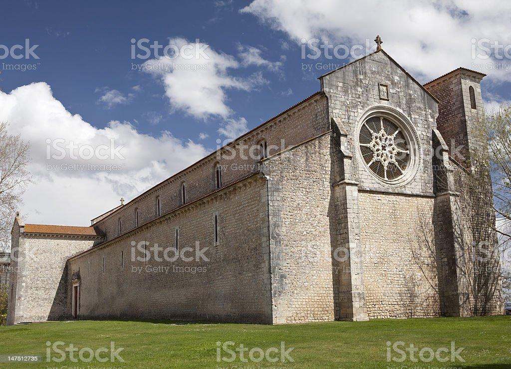 Convent of Saint Claire in Santarem. stock photo