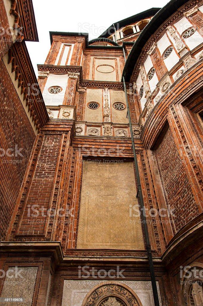 Convent of Santa Maria delle Grazie, Milan stock photo