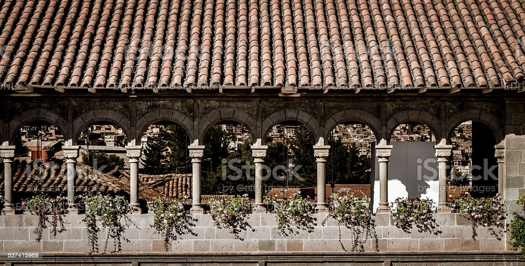 Convent of Santo Domingo, Korikancha, in Cusco, Peru stock photo