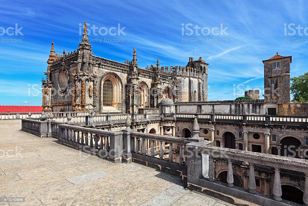Convent of the Order of Christ (Convento de Cristo), Tomar, Portugal stock photo