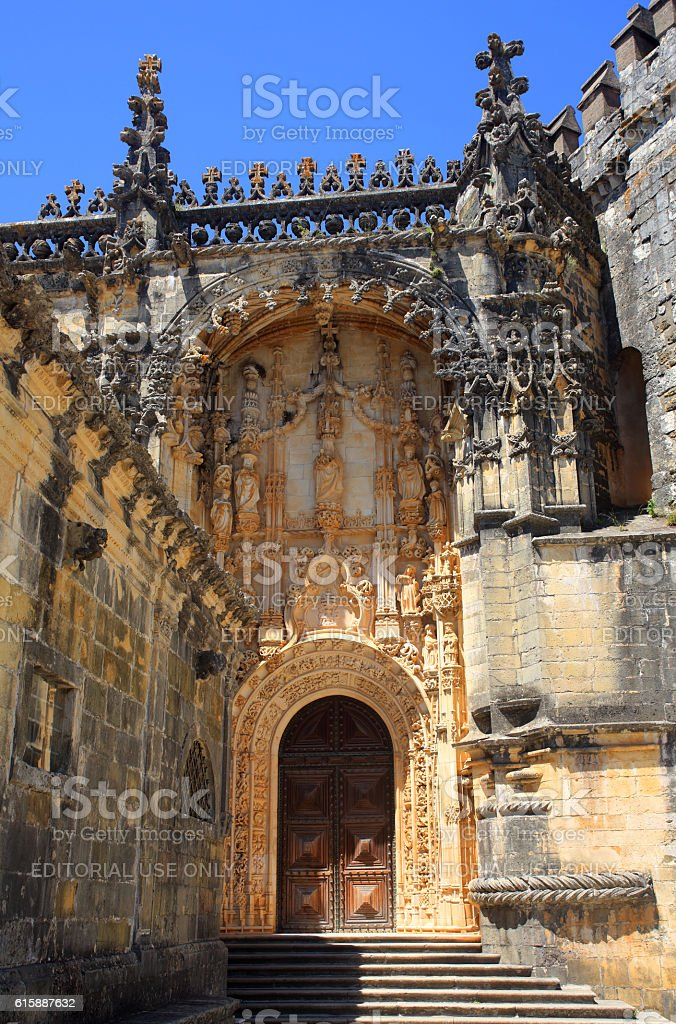 Convent of the Order of Christ. UNESCO World Heritage site. stock photo