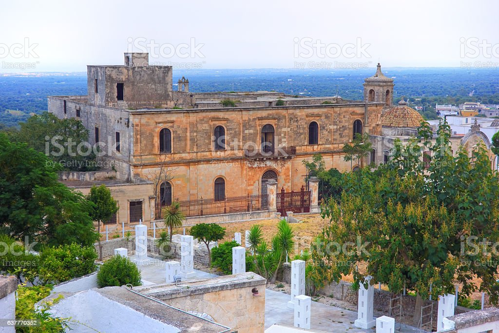 Convent Of The Paolotti. Ostuni. Puglia. Italy. stock photo