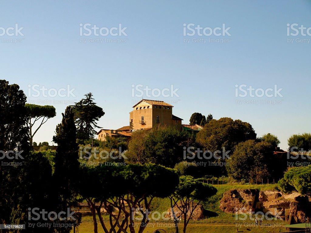 Convent S. Bonaventura Al Palatino stock photo